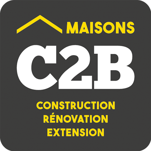 Maisons c2b, construction, rénovation, extension, logo