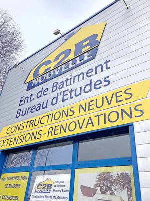 Maisons c2b, construction, rénovation, extension, landivisiau, finistère, bretagne, vitrine
