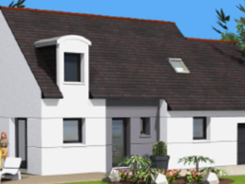 Maisons C2B, construction, rénovation, extension, landivisiau, finistère, bretagne, Maison traditionnelle n°04