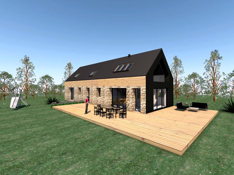 Maisons C2B, construction, rénovation, extension, landivisiau, finistère, bretagne, extension n°02